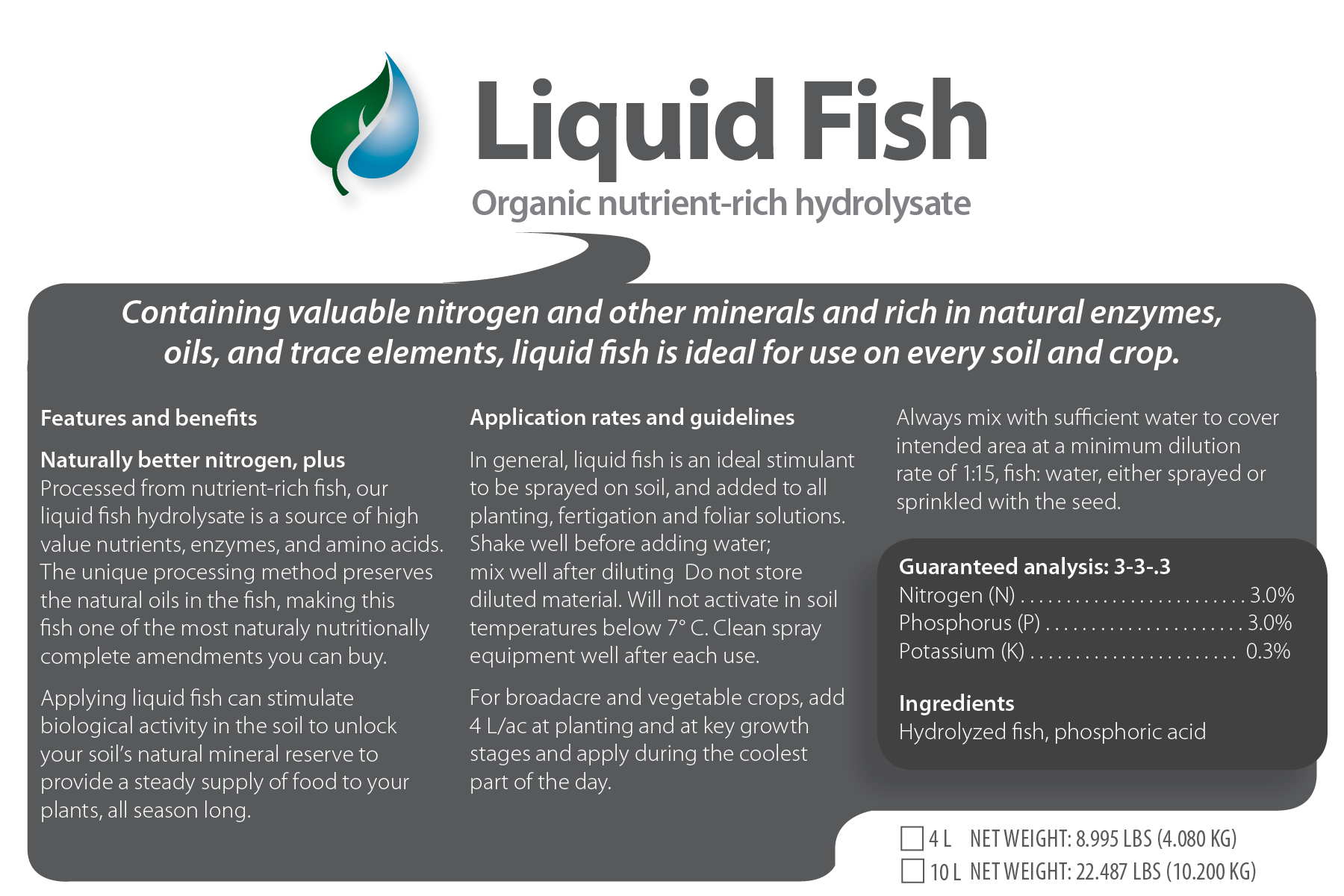 Liquid Fish Hydrolysate