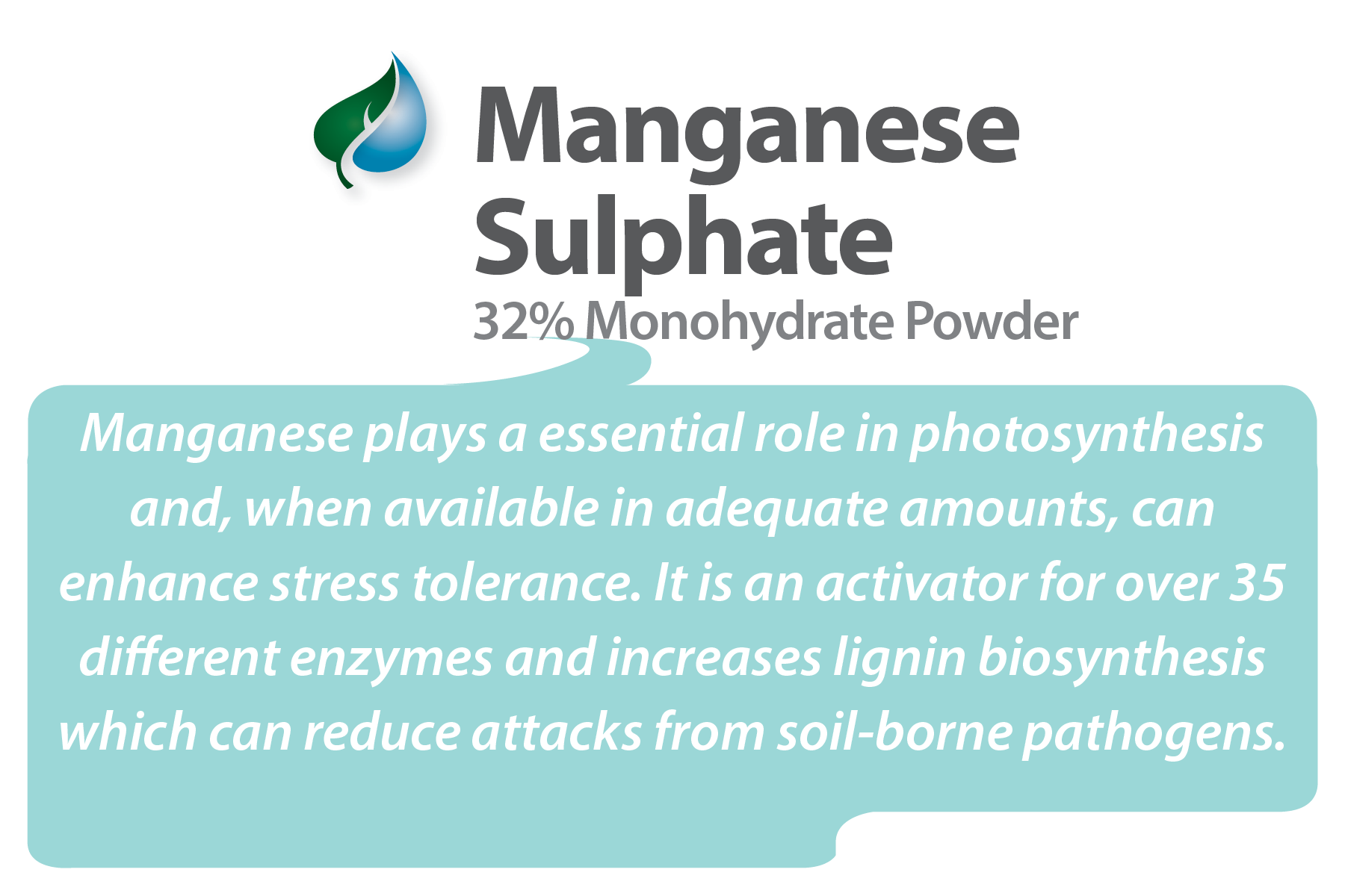 Manganese Sulphate Product label