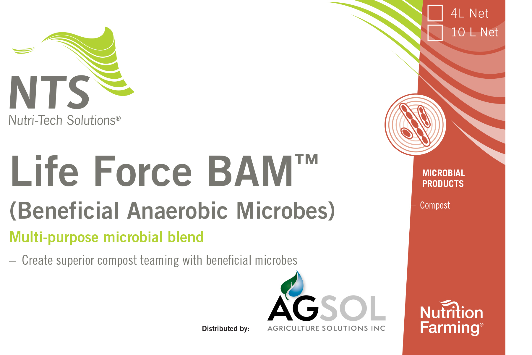 Life Force Bam product label