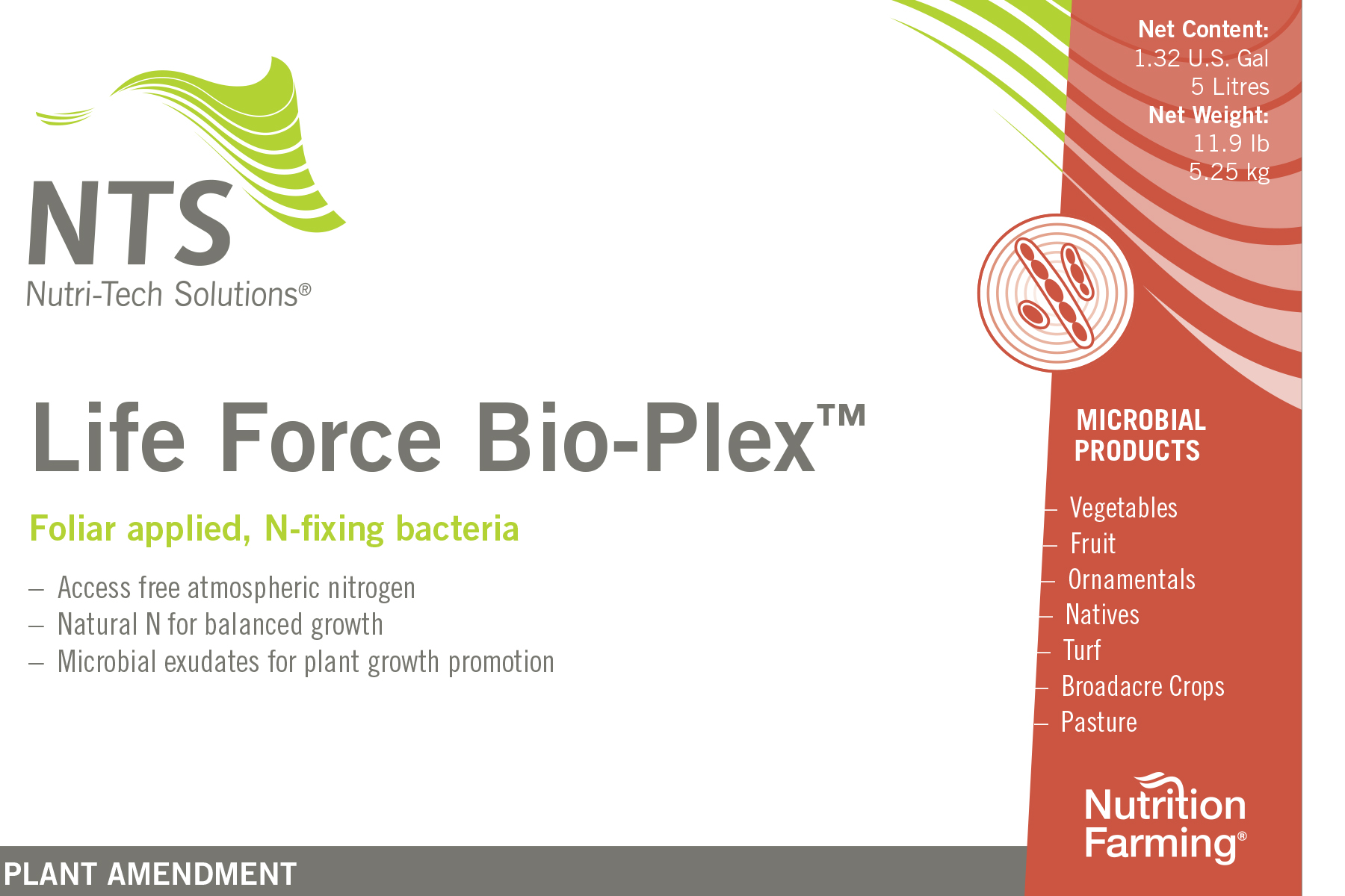 Life Force Bio-Plex product label
