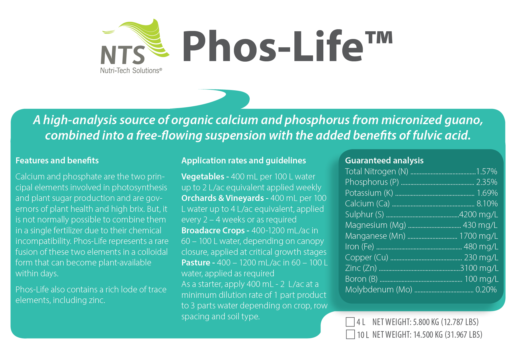 NTS Phos-Life™ store