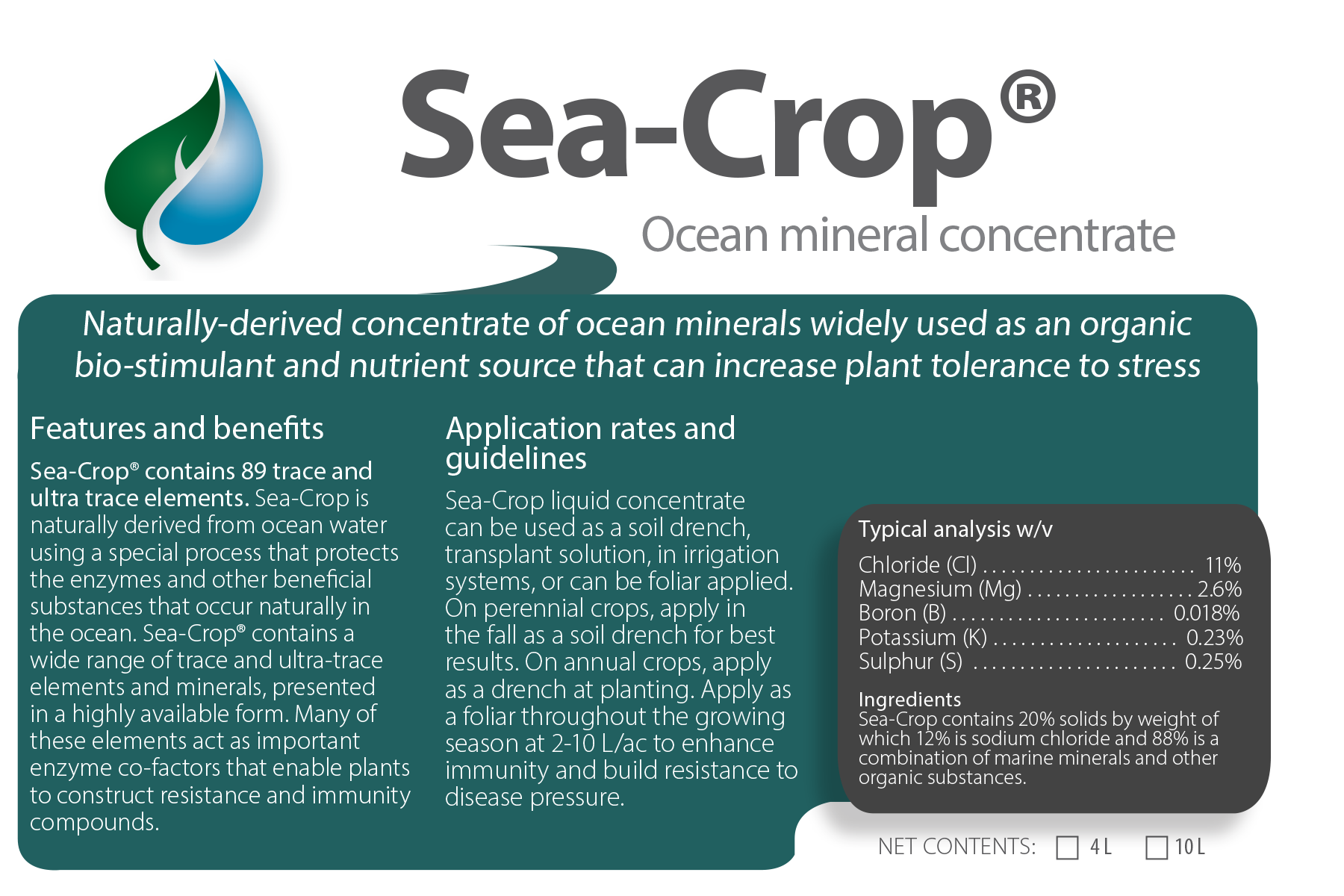 Sea-Crop® Ocean Mineral Concentrate