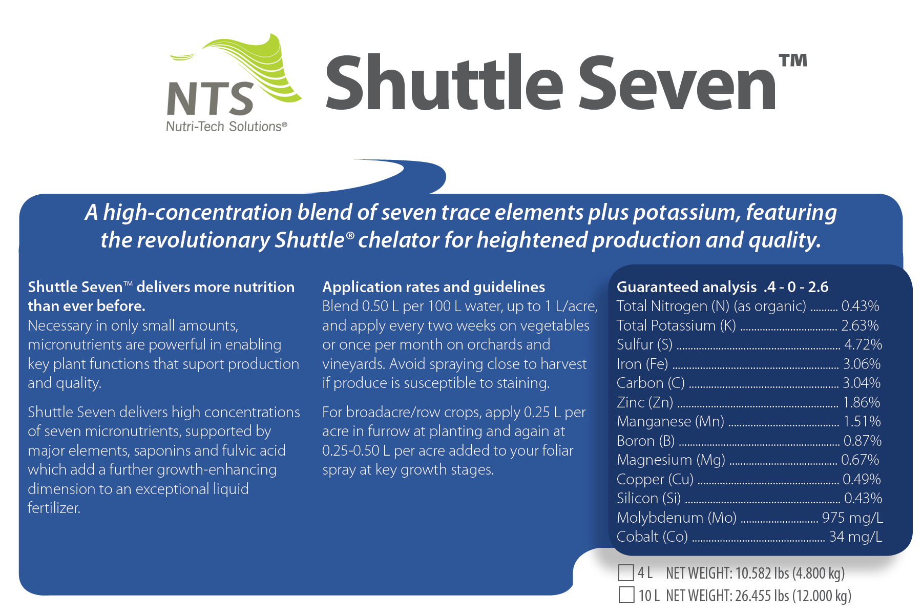 NTS Nutri-Key Shuttle Seven™