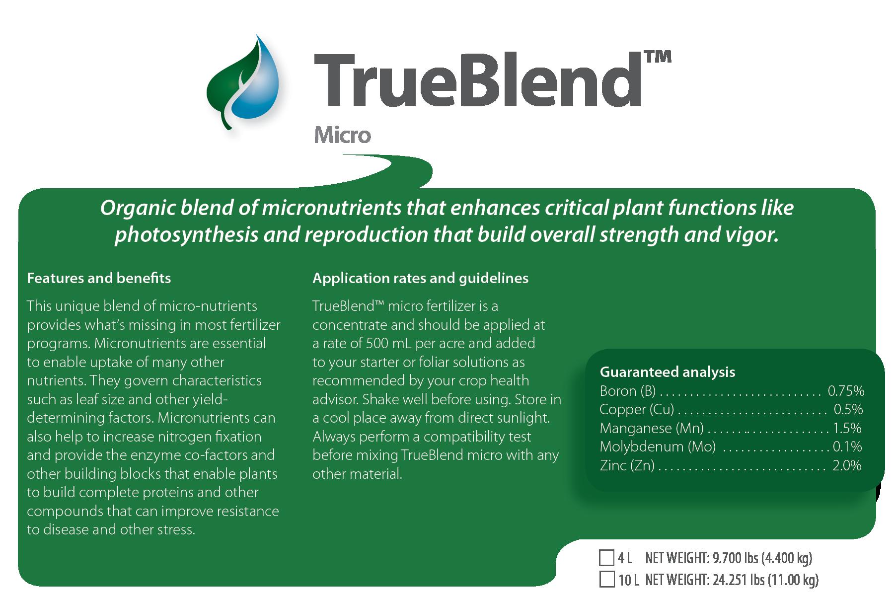 TrueBlend™ Micro