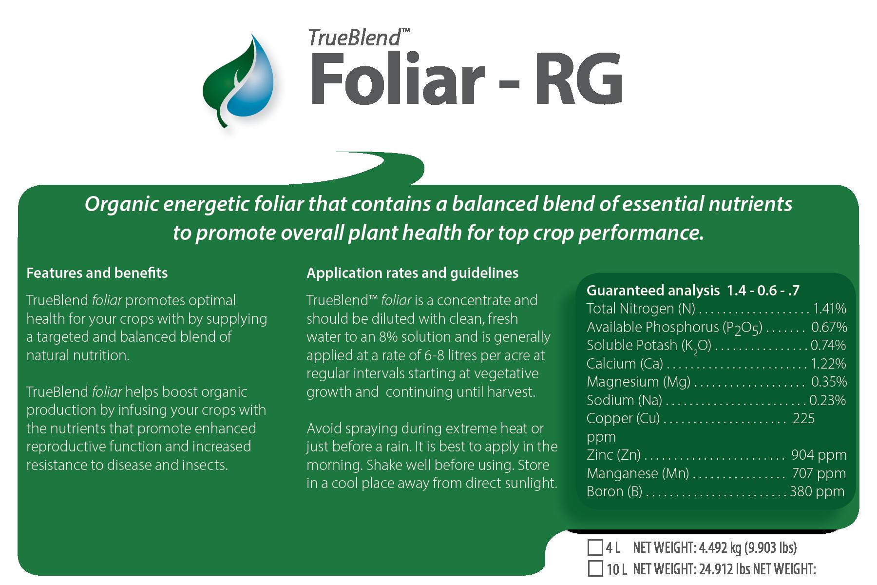 TrueBlend Foliar RG