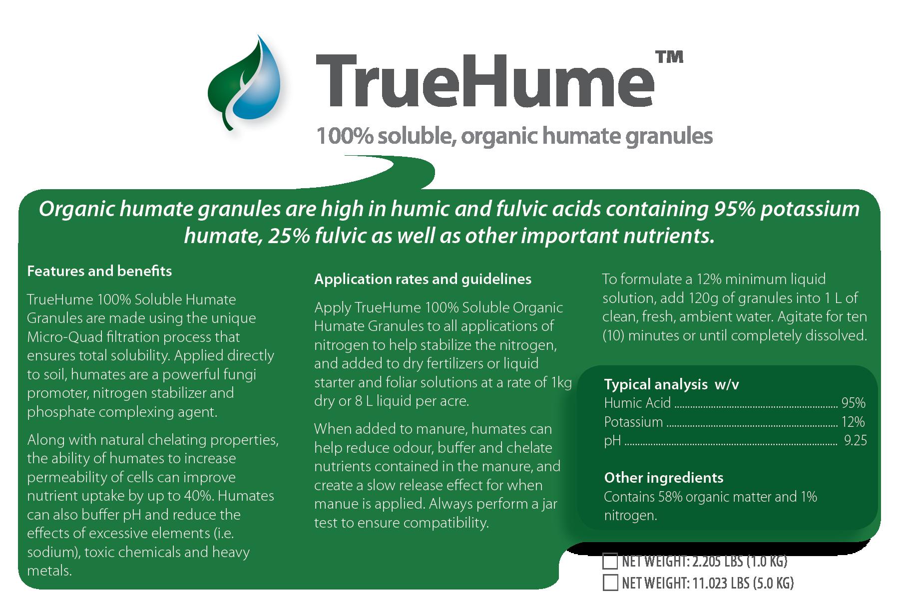 TrueHume Organic Soluble Humate Granules