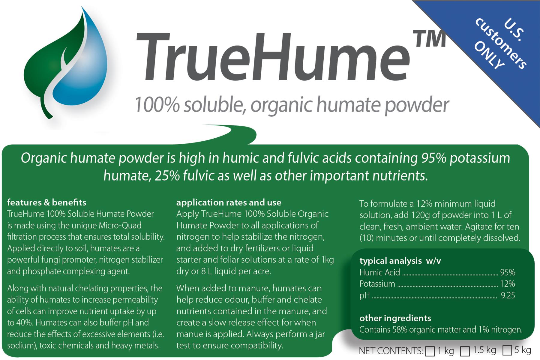 TrueHume Organic Soluble Humate Powder