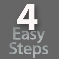 4 easy steps button link image