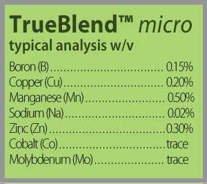 true blend micro analysis block 300