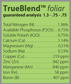 trueblend foliar analysis block 0317 300