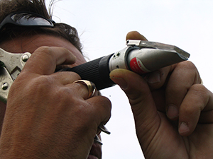 Dave de Veres with Refractometer - pic